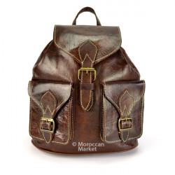 Grand sac à dos en cuir Medina
