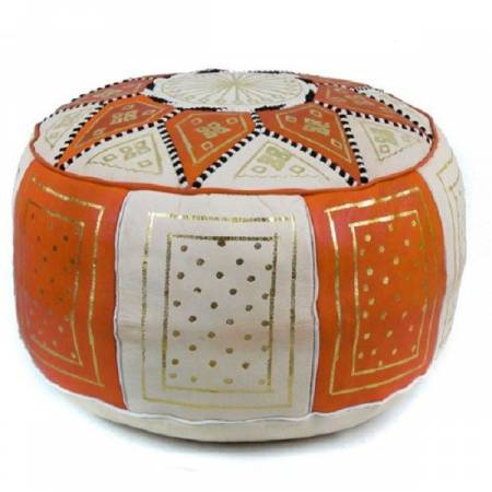 Pouf tradition orange