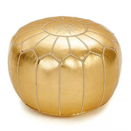 Pouf design doré