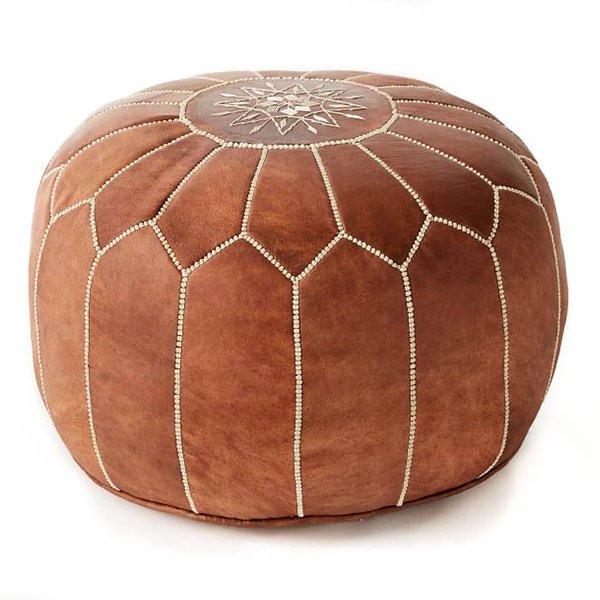 pouf design marron. Black Bedroom Furniture Sets. Home Design Ideas