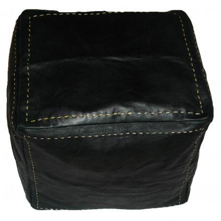 pouf cube noir
