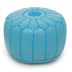pouf design bleu ciel