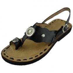 Sandales spartiates Farah en cuir