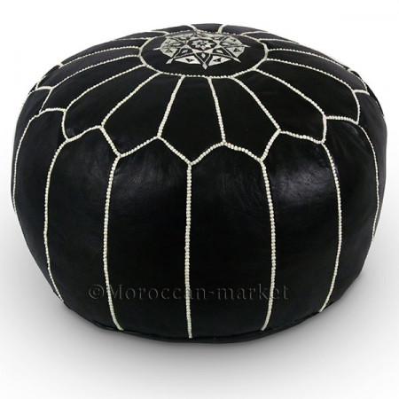 Pouf design noir