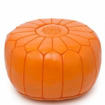 Pouf design orange mandarine