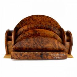 Range courrier en bois de thuya
